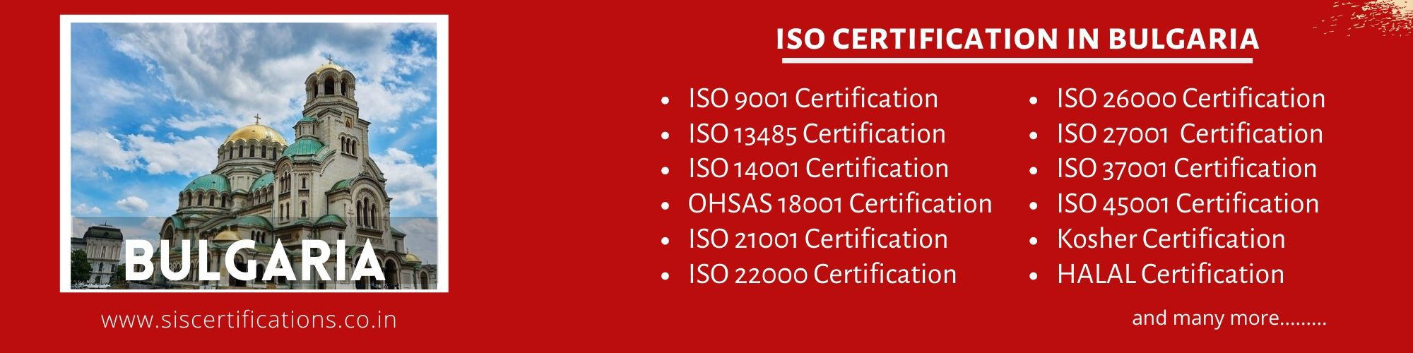 ISO Certification in Bulgaria;ISO 9001 Certification in Bulgaria;