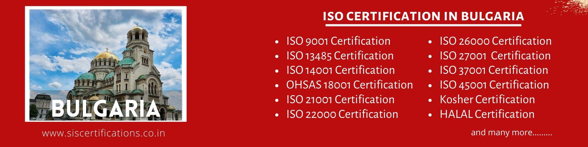 ISO Certification in Bulgaria;ISO 9001 Certification in Bulgaria;