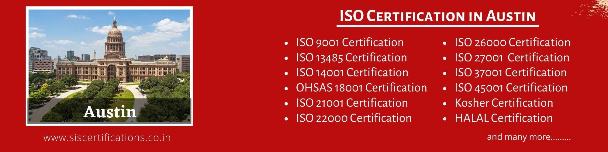 ISO Certification in Austin , ISO Certification in Austin